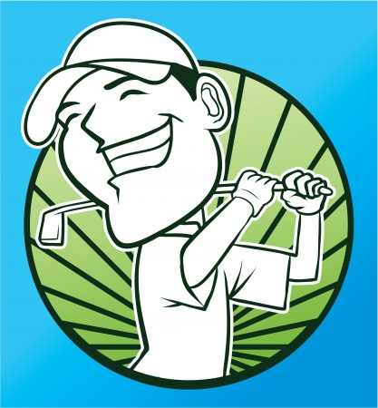 golfing: golf Illustration