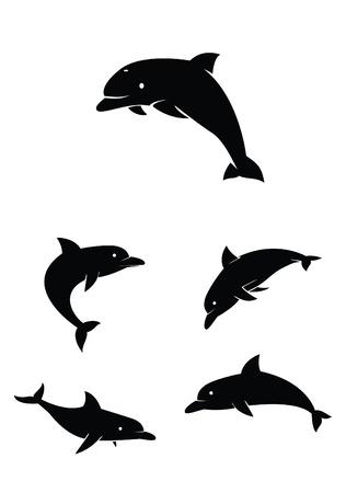 dolphin Collection Set Stock Vector - 17930033