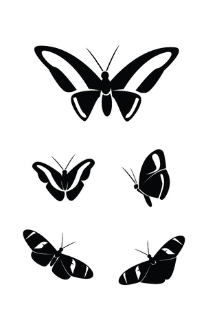 butterfly Collection Set Stock Vector - 17930034