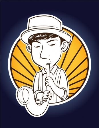 mellow: saxophone player