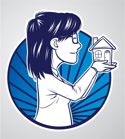 mother house Stock Vector - 18010879