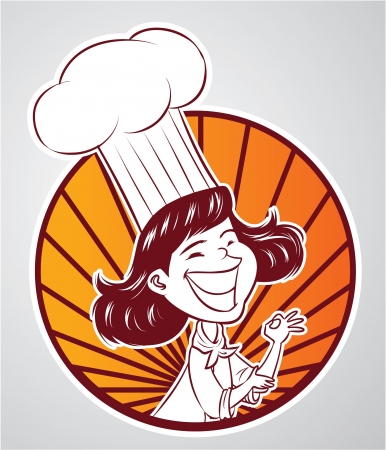retro housewife: chef girl