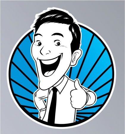 Thumb Up Businessman Illustration