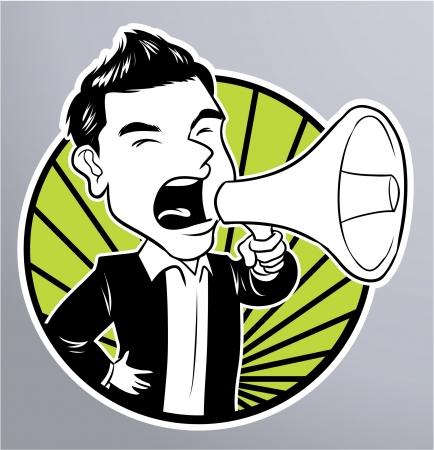 businessman megaphone Vector