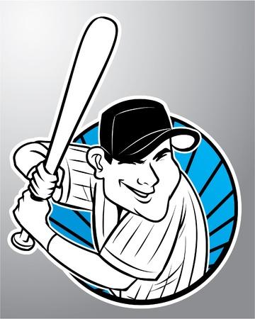 infield: base ball Illustration