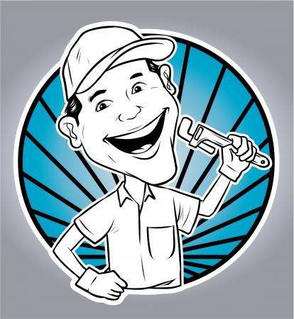 repair man: Reparaci�n hombre Vectores
