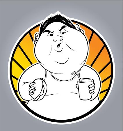 fat man Stock Vector - 18417656