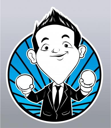 filipino: business boxer Illustration