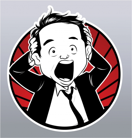 power failure: stress businessman Illustration
