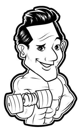 Body Builder Man Stock Vector - 18854636