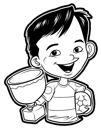 Boy Winner Stock Vector - 18854645