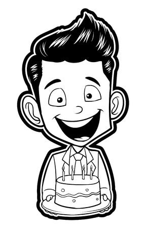 Birthday Party cake Stock Vector - 18854630