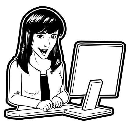 businesswomen online Stock Vector - 18855023