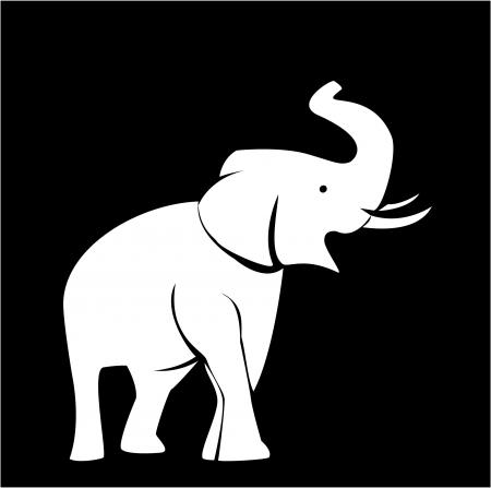 silhouettes elephants: elefante Vectores