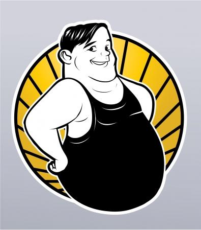 big belly: fat man