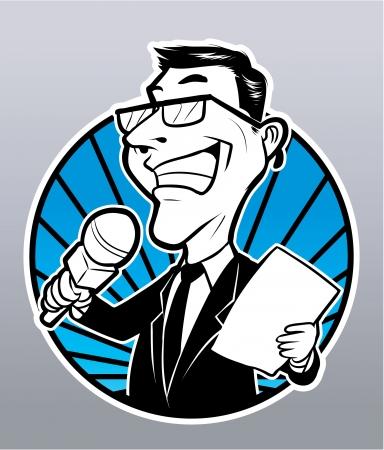 reportero: hombre reportero