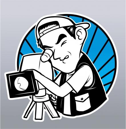 cinematographer: videographer Illustration