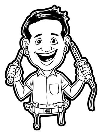 journeyman technician: technician Illustration