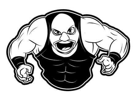 sweaty: wrestler