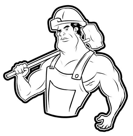 metaal: sterke werknemer