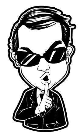 gesturing: secret agent