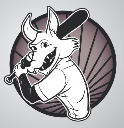wolf Baseball Vector