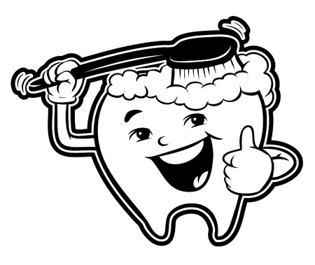 tooth and brush Vector