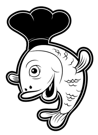 fish chef Vector