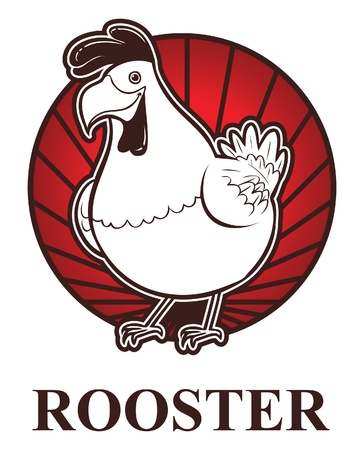 rooster zodiac Vector