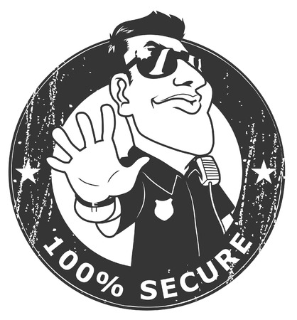 Security guard 100  Secure Vector