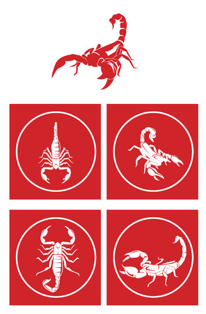 Scorpion Symbol Set Vector