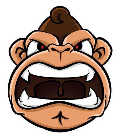 ape: gorilla face Illustration