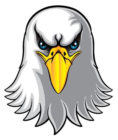 bald head: eagle head