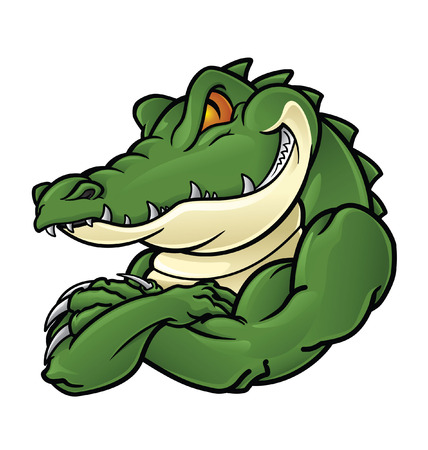the reptile: Crocodile Mascot Illustration