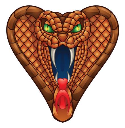 serpiente cobra: Cobra Head Ilustración