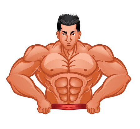 Body Builder Symbol Vector