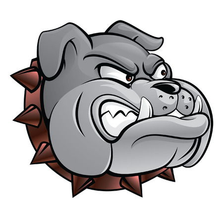 cartoon mascot: Bull dog