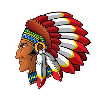 Apache の頭  イラスト・ベクター素材