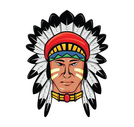 native american man: apache head