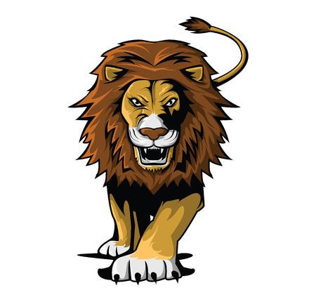 animals in the wild: Lion Illustration