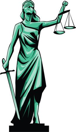 dama justicia: Se�ora Justice Vectores