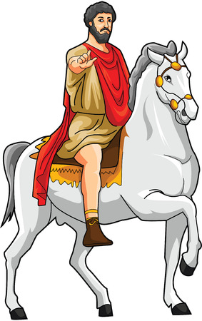 ancient civilization: caesar Illustration