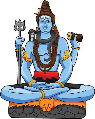 Shiva Statue Vector