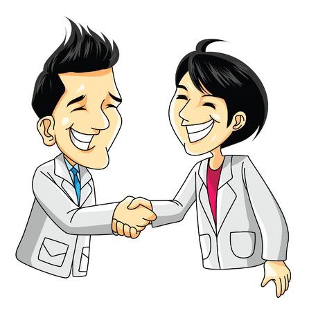handshake man woman