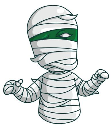 mummified: mummy Illustration