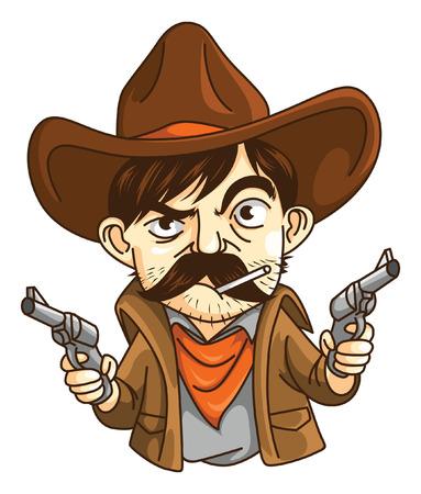 Cowboy Man Illustration