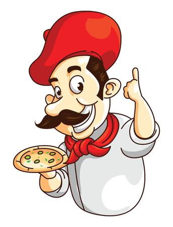 Chef Pizza Illustration