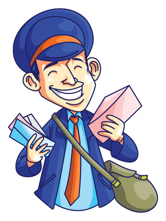 post man: Post Man Illustration