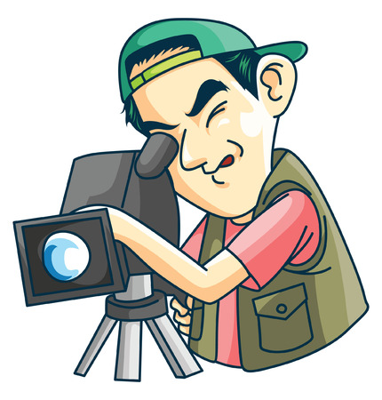 Cameraman Vektorové ilustrace