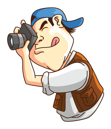 man with camera: Photographer Illustration